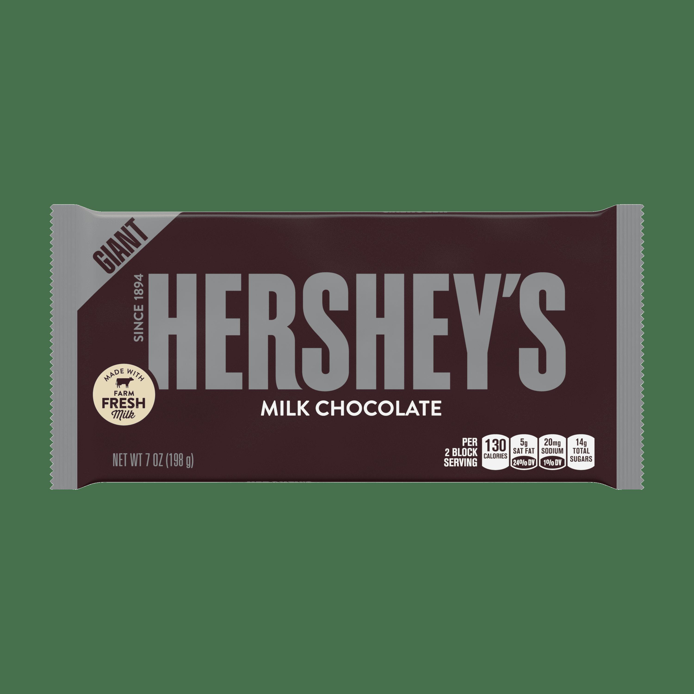hershey s milk chocolate candy giant bar 7 oz walmart com