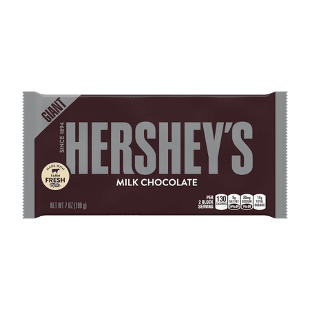 (3 Pack) Hershey's, Milk Chocolate Candy Giant Bar, 7 Oz