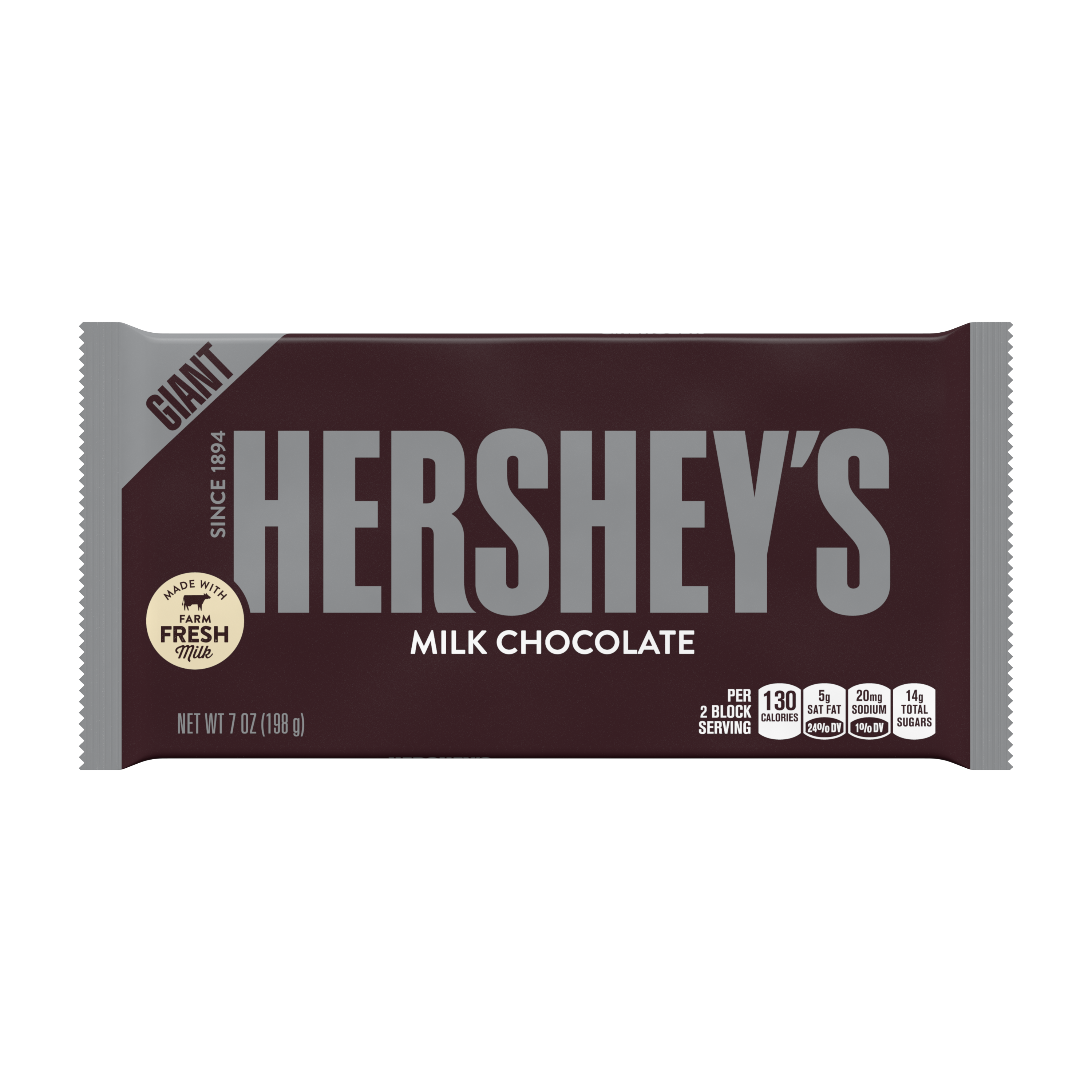 Hershey's, Milk Chocolate Candy Giant Bar, 7 Oz