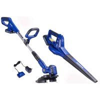 Badger 20-Volt Max Cordless Lithium-ion String Trimmer/Edger & Blower Combo Kit (2-Tool)