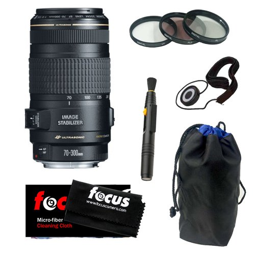 Canon EF 70-300mm f/4-5.6 IS USM Telephoto Zoom Lens Acce...