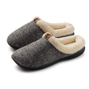 Roxoni Womens Warm Winter Slippers-Knitted and Fleece Lined inner-Rubber Sole-Sizes 6 to 11-Style #2111