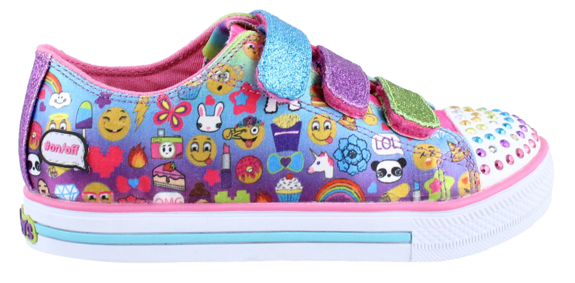 Girl's Skechers, S Lights Chit Chat Simply Silly Light up Shoe