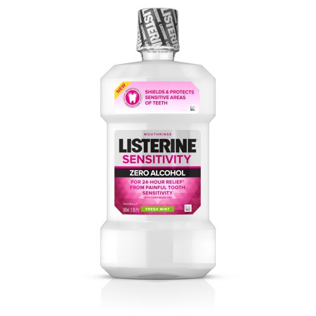 Listerine Sensitivity Alcohol-Free Mouthwash in Fresh Mint, 500 (Mouthwash Fresh Mint)