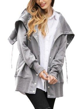 Women Casual Long Sleeve Slim Button Jackets Coat
