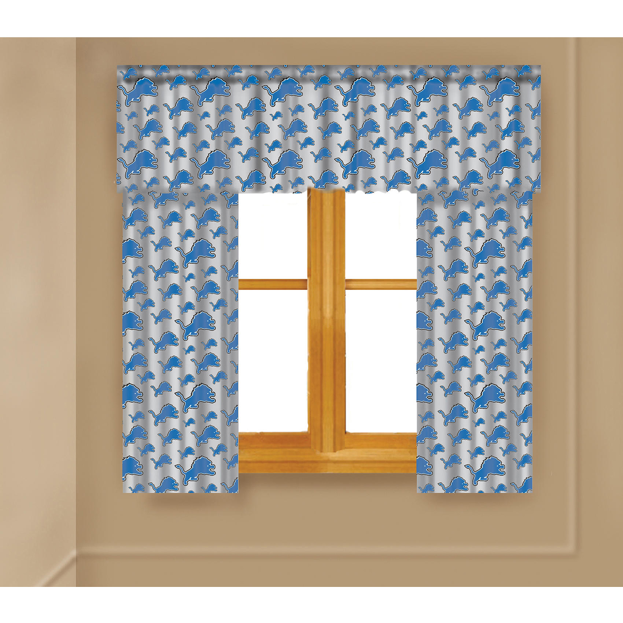 Wonderful NFL Detroit Lions Window Curtain Panels - Walmart.com WE37