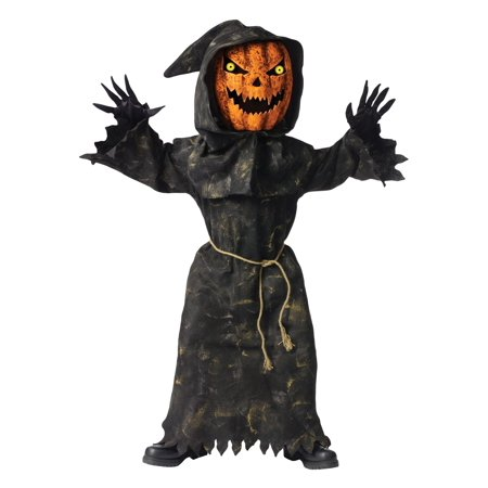 Bobble Head Pumpkin Child Halloween Costume (Pumpkin Head Halloween Dance)