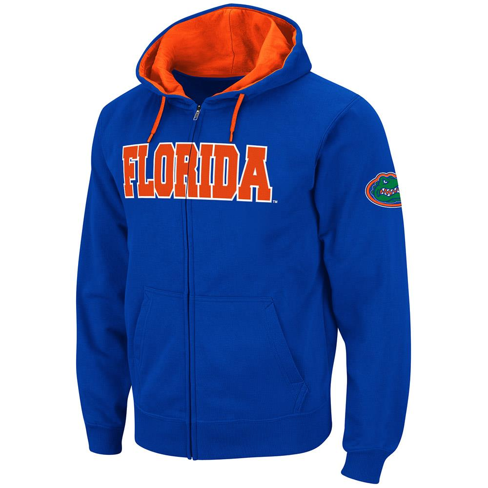 Mens Florida Gators Full Zip Hoodie S by Colosseum