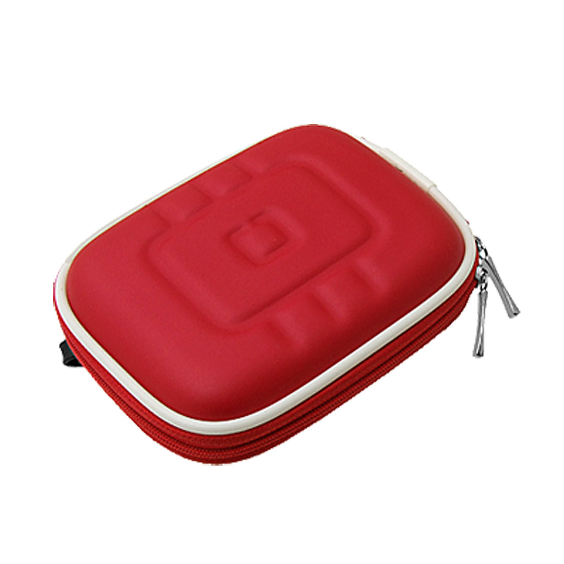 Unique Bargains Red Travel Carrying Case Bag with Carabiner for GPS