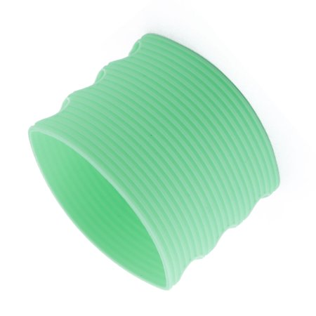Household Glass - Household Silicone Glass Bottle Mug Cup Cover Sleeve Cyan 6.5cm Dia
