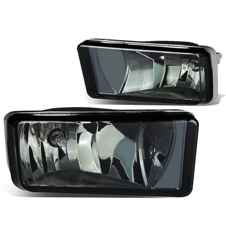 For 2007 to 2015 Chevy / GMC GMT900 Truck Pair of Bumper Driving Fog Lights (Smoke Lens) 08 09 10 11 12 13 14