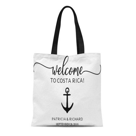 KDAGR Canvas Tote Bag Destination Nautical Wedding Weekend Welcome Favors Hotel Room Beach Reusable Handbag Shoulder Grocery Shopping Bags - Hotel Welcome Bags