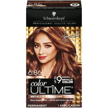 Schwarzkopf Color Ultime Metallic Permanent Hair Color Cream, 6.86 Sparkly Light Brown (White Halloween Hair Dye)