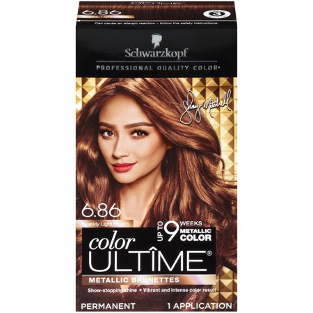 Schwarzkopf Color Ultime Permanent Hair Color Cream, 6.86 Sparkly Light Brown