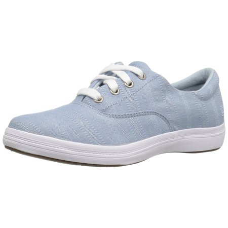 Shoe Blue Denim (Grasshoppers Women's Janey Ii Fashion Sneaker, Faded Denim Blue, 9.5 M US)