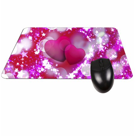 Hearts and Stars Rectangle Shaped Mouse Pad - Love/ Valentine's Day Gift