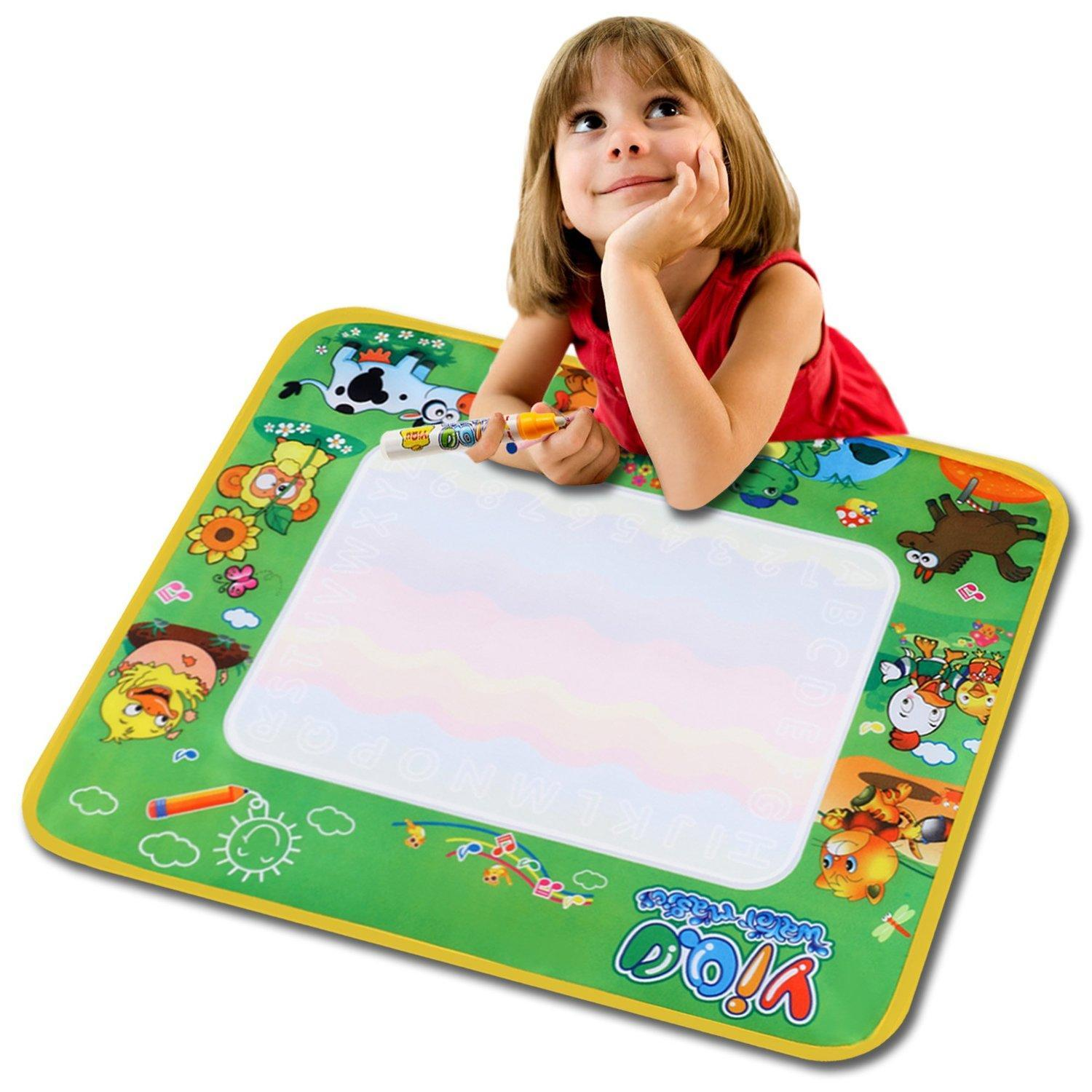 Water Painting Drawing Writing Board Mat Magic Pen Doodle Toy for Baby Kids Gift HITC