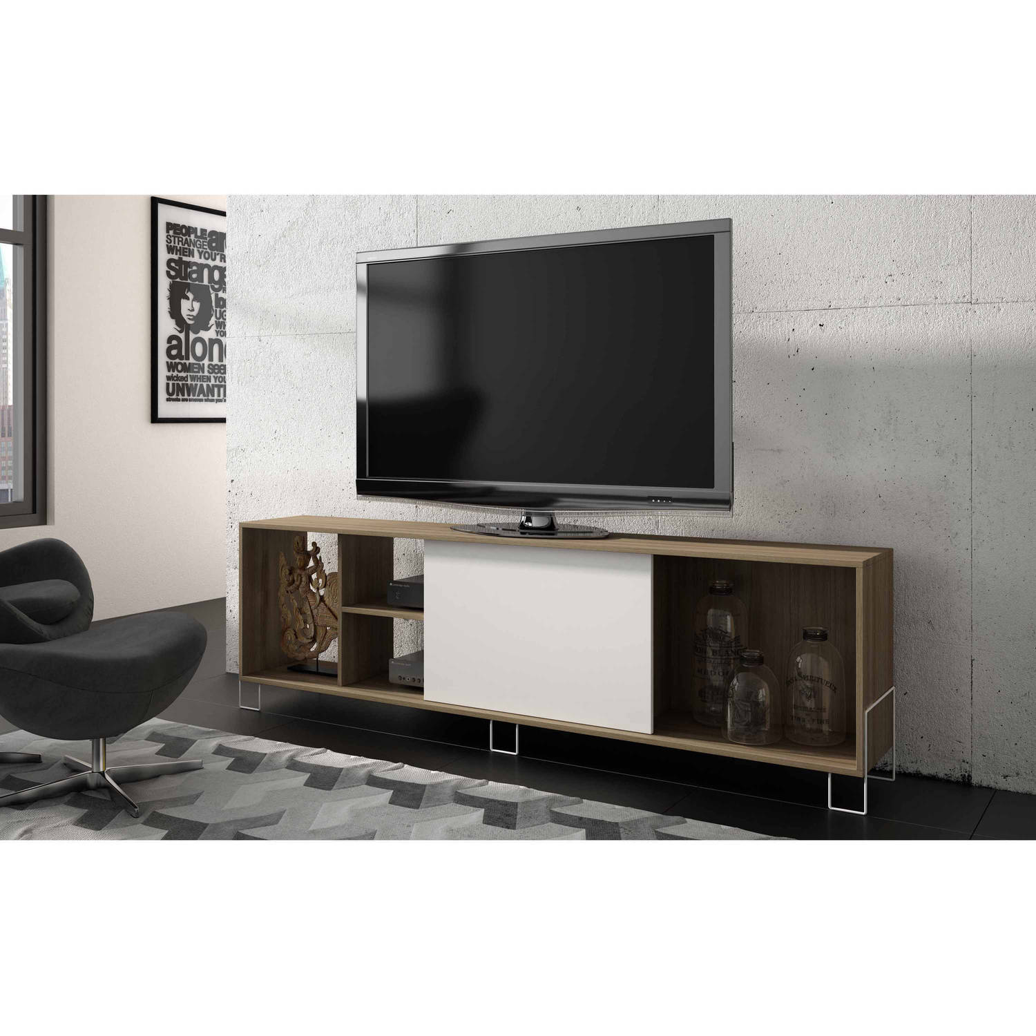 Mendocino Spruce Eye Catching Tv Stand 2 0 For Tvs Up To 46  # Console Meuble Tv
