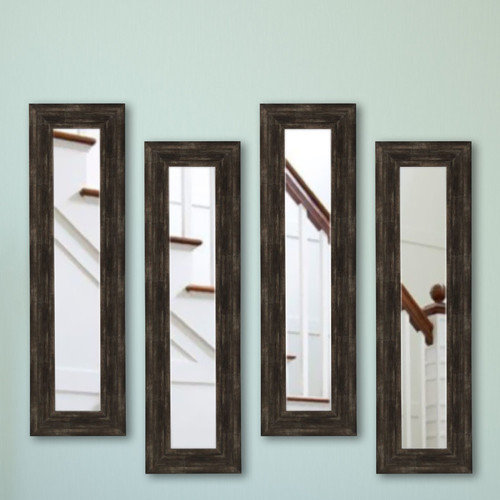 Rayne Mirrors American Made Brushed Classic Brown Panel Mirrors