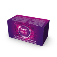K-Y Intense Latex Condoms (24 condoms), Discreetly Packaged With Silicone-Based Lubricant, Ribbed & Dotted With Specially Formulated Lube To Intensify Her Pleasure