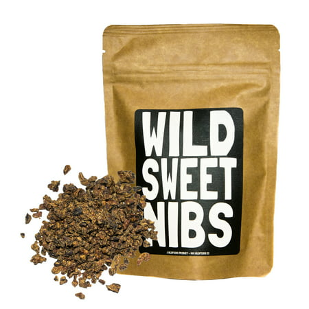 Wild Sweet Nibs, Sweetened Fair Trade Cacao Nibs - 8oz by Wild Foods