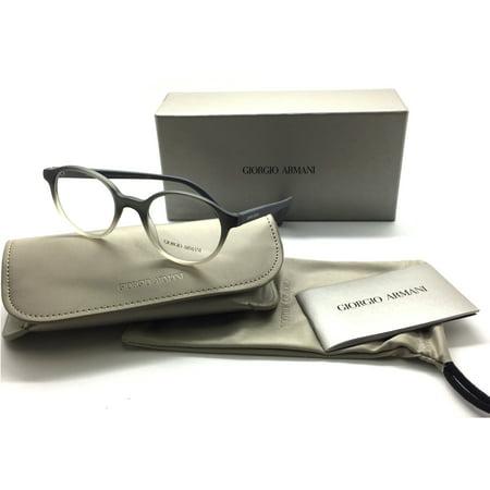 Giorgio Armani Round Matte Two Tone Grey Clear 7095 Eyeglasses 5445 (Two Tone Eyeglasses)