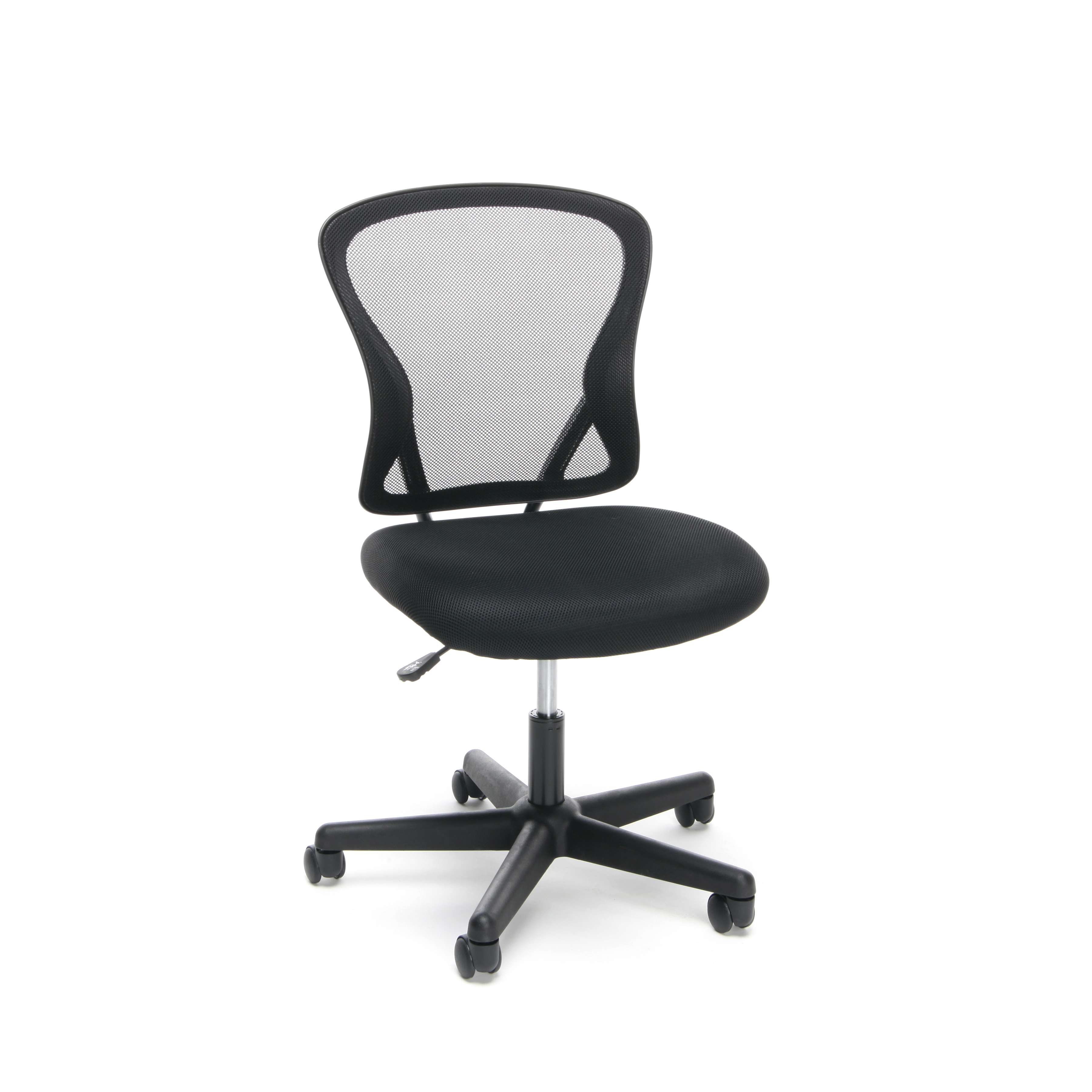 Essentials By OFM ESS 3010 Swivel Mesh Back Armless Task Chair, Mid Back,