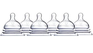 Munchkin Latch Natural Movement Baby Bottle Nipples, 6 Count, Stage 1 by Munchkin