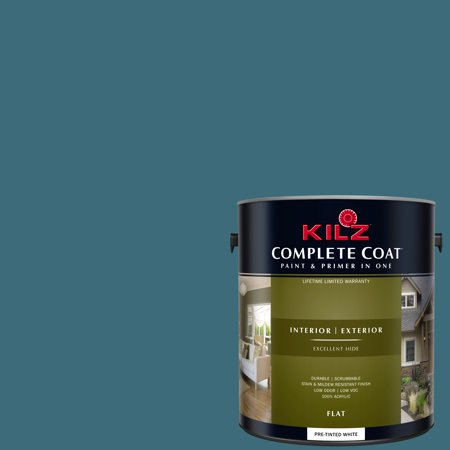 KILZ COMPLETE COAT Interior/Exterior Paint & Primer in One #RE280-02 Wharf Blue