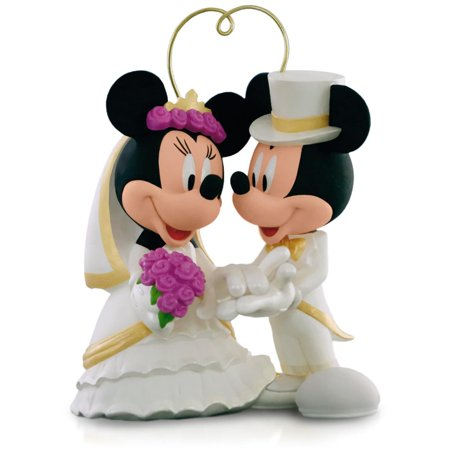 Disney Mickey Mouse and Minnie Mouse - I Do Times Two Wedding Ornament 2015