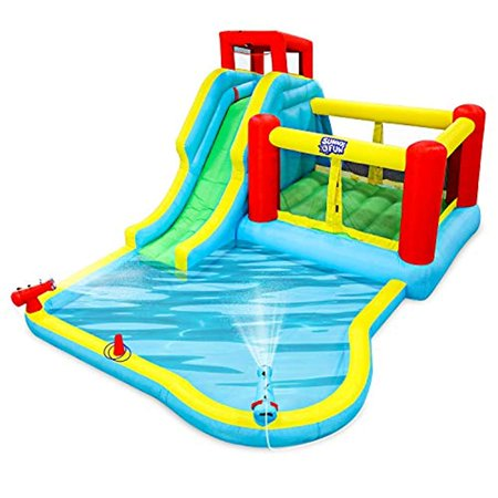 Deluxe Inflatable Water Slide Park Heavy Duty Nylon