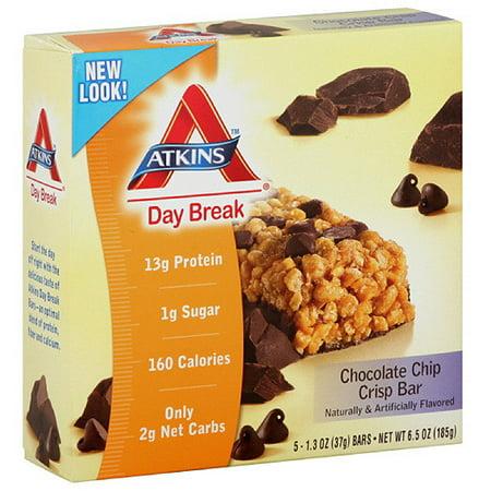 Atkins Advantage Chocolate Chip Crisp Bars, 5ct (Pack of 6)