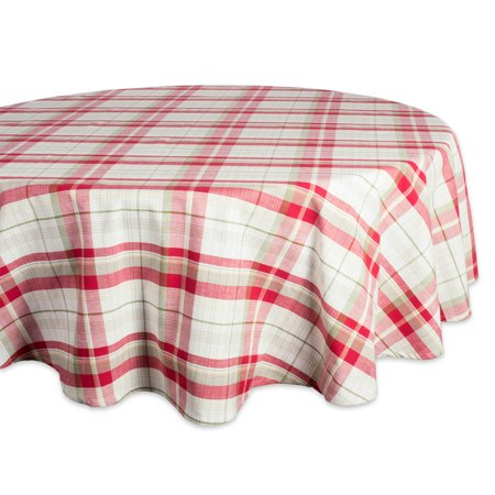 DII Orchard Plaid Tablecloth 70