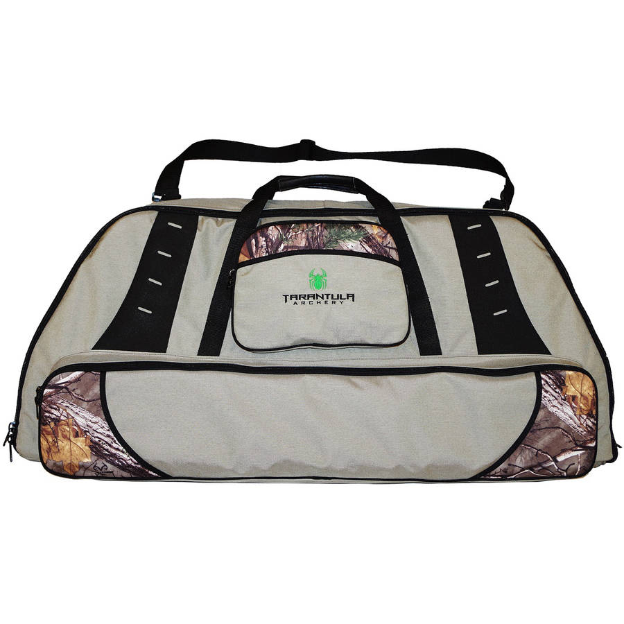 Tarantula Deluxe Double Bow Case with Tackle Box Stone, Camo