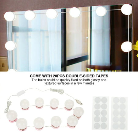 Light Mirror Lenses (WALFRONT LED Makeup Mirror Lights LED Bulbs Kit Lens LED Lamp Headlight Vanity Mirror Light )