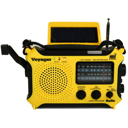 Katio KA500L AM FM Shortwave Dynamo Solar Crank Emergency Weather Radio - (Best Cheap Shortwave Radio)