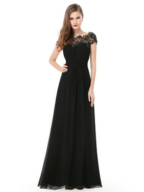 Ever-Pretty Women's Cap Sleeve Lace Mother of the Bride Dresses for Women 09993 (Black 4 US)