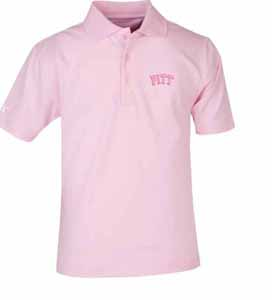 Pitt YOUTH Unisex Pique Polo Shirt (Color: Pink)