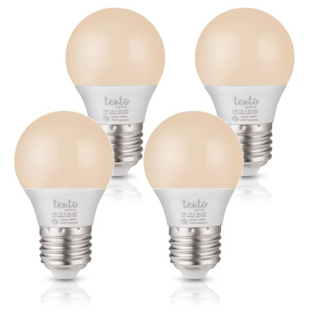 Tento 12v LED Bulbs Warm Soft White 450 Lumens 12 Volt E26 E27 Base