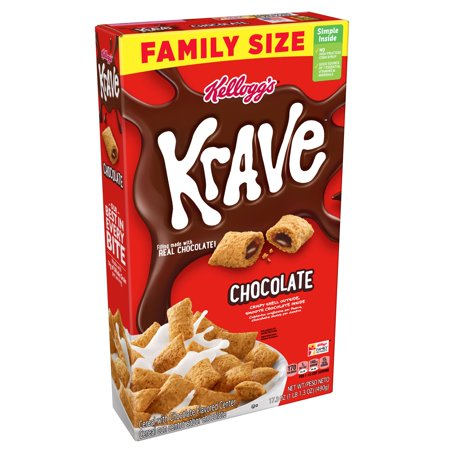 Kellogg's Krave Breakfast Cereal, Chocolate, Family Size, 17.3 Oz - 5 Halloween Monster Cereals