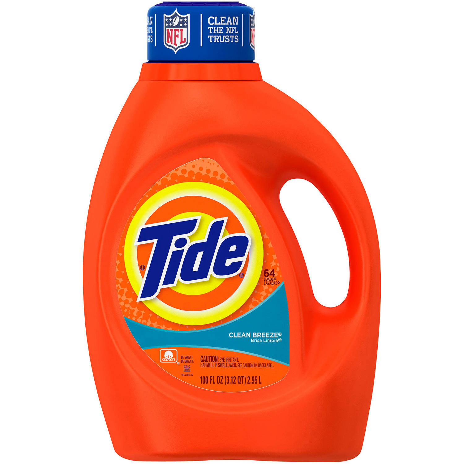 Tide Clean Breeze Scent Liquid Laundry Detergent, (Choose Your Size)