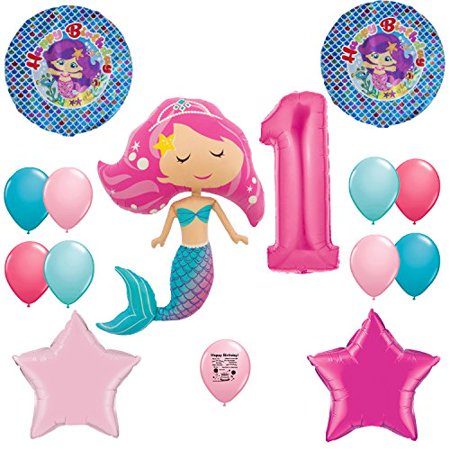 Mermaid Party Supplies Under the Sea 1st Birthday Party Balloon Decoration Kit - Under The Sea Birthday Party Supplies
