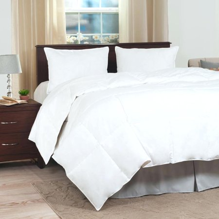 - 2-PC 900 Twin White HOTEL Comforter Set, Down Alternative Microfiber Bedding Comforter Insert for Duvet