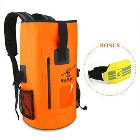 6c946bb85027 SARKI - 30L Waterproof Backpack Dry Float Bag with Zipper Pocket and  Adjustile Shoulder Straps - Large Sack for Kayaking