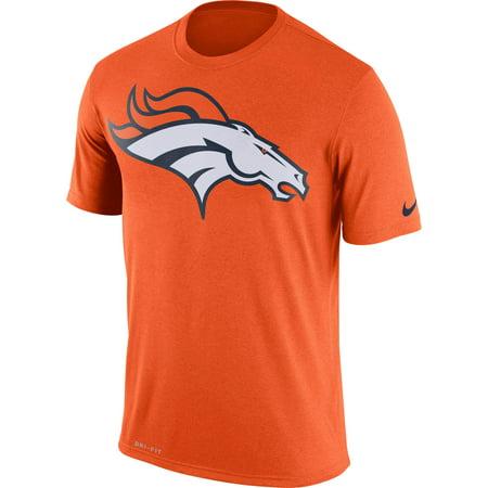 Nike Men's Denver Broncos Legend Logo Performance Orange T-Shirt
