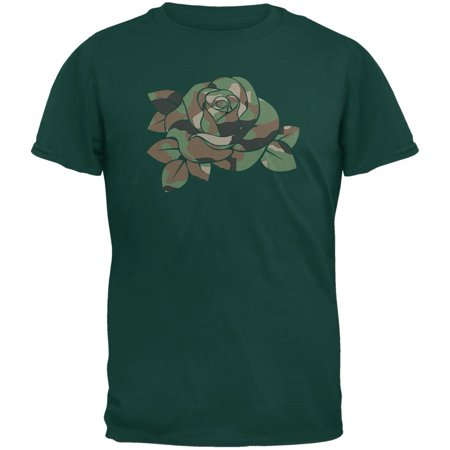 Camo Rose Military Wife Forest Green Adult (Forest Green Camo)