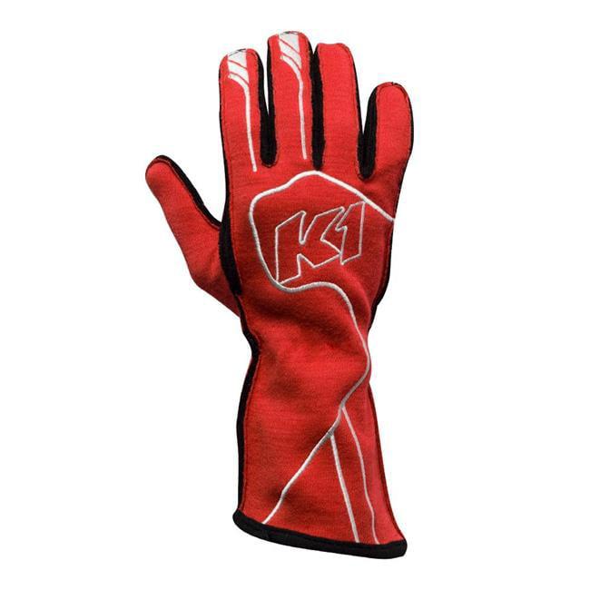 K1 RaceGear 23-CHP-R-S FIA 8856-2000 & SFI 3.3-5 Premium Champ Auto Racing Nomex Gloves, Red - Small
