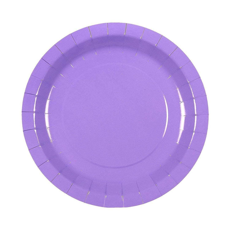 Purple Party Supplies - 24-Set Paper Tableware ...