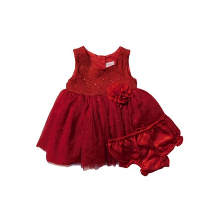 be6087a4d Youngland - Youngland Infant Girls Red Sparkly Ruffled Christmas ...