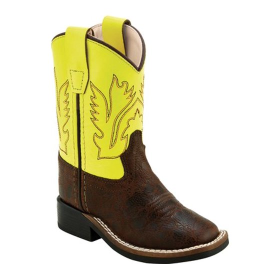 e476a815e3e Infant Old West 6 Inch Broad Square Toe Cowboy Boot - Toddler